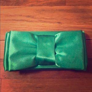 Green Bow Clutch